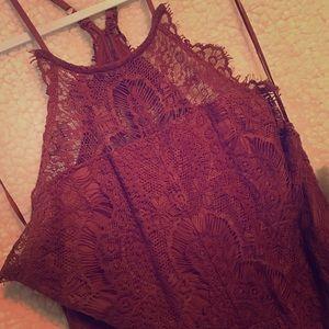 Free People rust lace dress